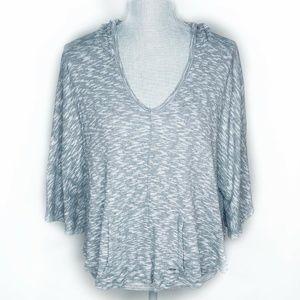 Alo Yoga Hoodie Activewear Heathered Gray Size M
